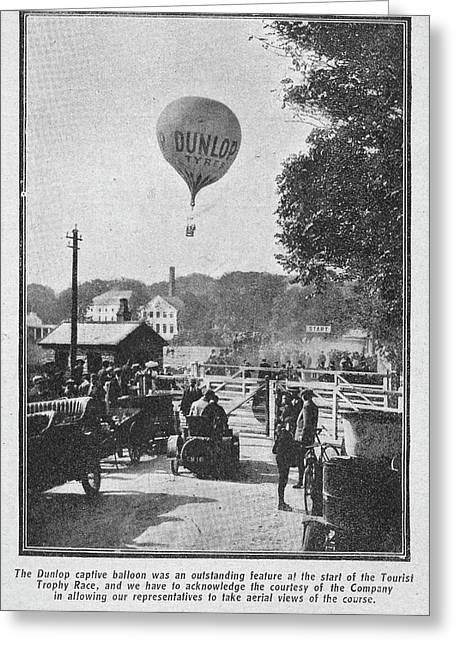Dunlop Captive Hot Air Balloon Greeting Card by British Library