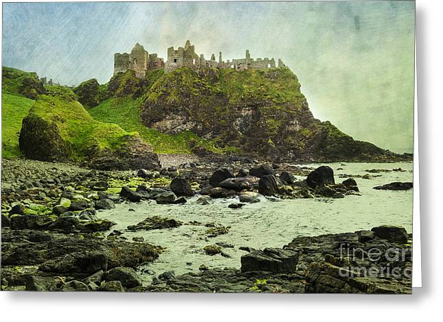 Dunluce Castle Greeting Card by Svetlana Sewell