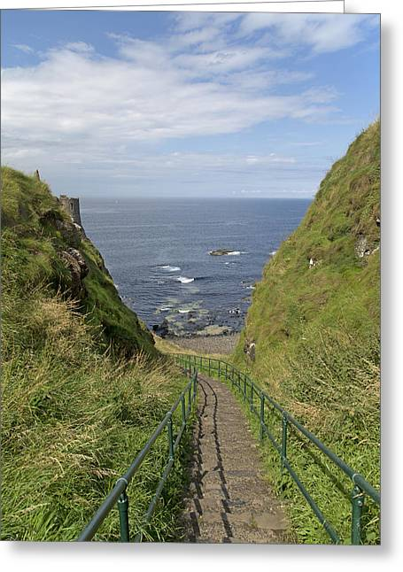 Dunluce Staircase Ireland Greeting Card by Betsy Knapp