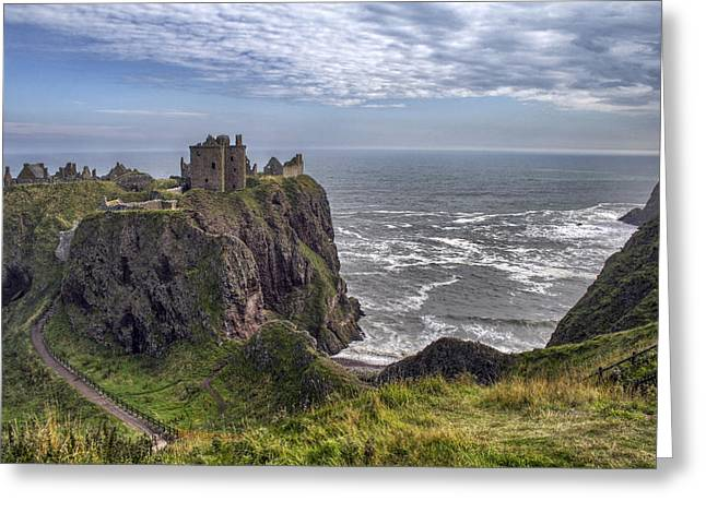 Dunnottar Castle And The Scotland Coast Greeting Card
