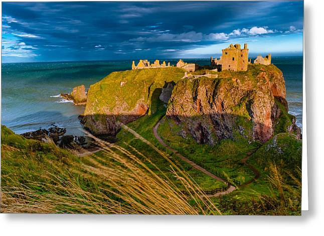 Dunottar Castle Greeting Card by David Ross