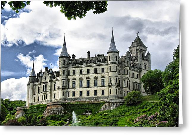 Dunrobin Castle Greeting Card by Jacqi Elmslie
