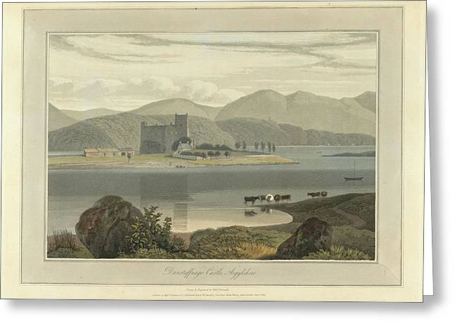 Dunstaffnage Castle In Argyllshire Greeting Card by British Library