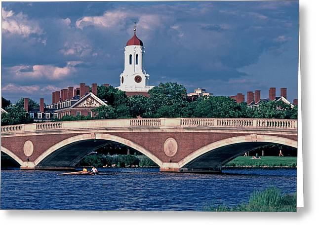 Weeks Bridge Charles River Greeting Card by Tom Wurl