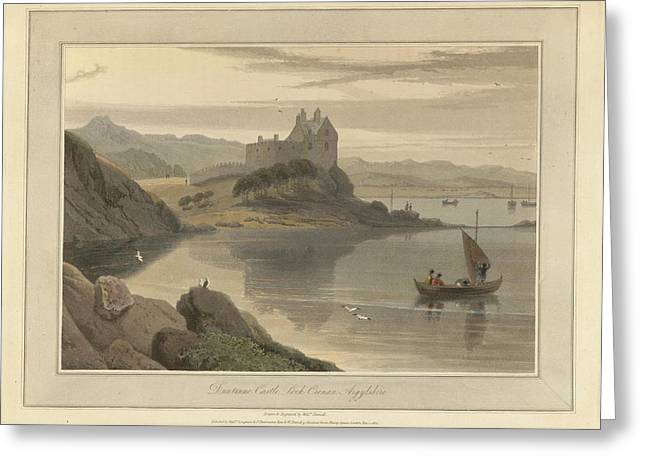 Dunstone Castle On Loch Crenan Greeting Card by British Library