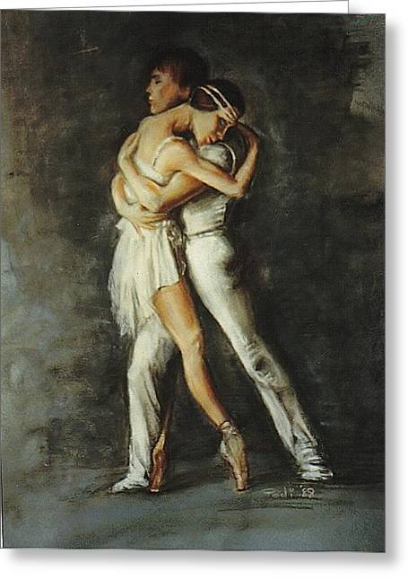 Duo Dance Greeting Card by Podi Lawrence