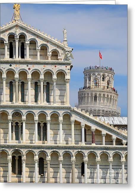 Duomo And Campanile Greeting Card by Inge Johnsson