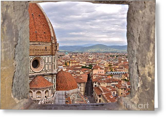 Duomo From Campanile Tower Greeting Card by Amy Fearn
