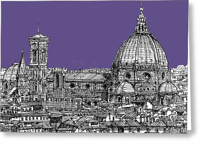Duomo In Lilac Greeting Card by Adendorff Design