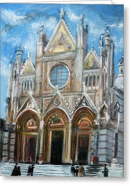 Duomo Sienna Greeting Card by Tom Smith