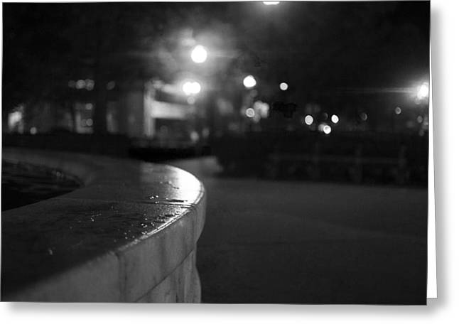 Dupont Circle Fountain Side Greeting Card by Michael Williams