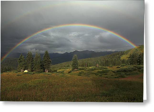 Durango Double Rainbow Greeting Card