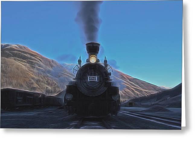 Durango Silverton 480 Digital Art Greeting Card by Ernie Echols