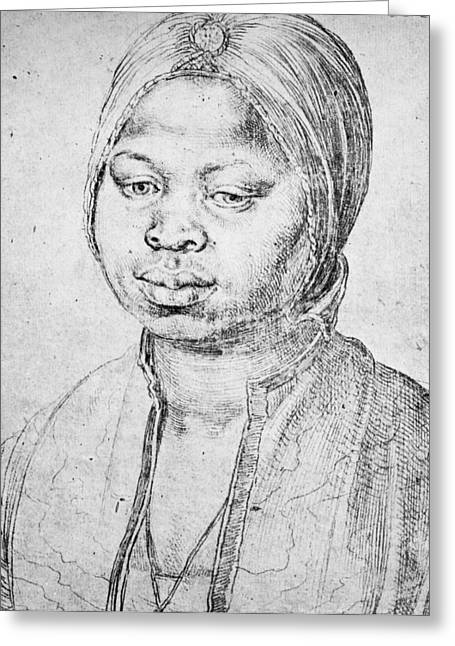 Durer Slave Woman, 1521 Greeting Card by Granger