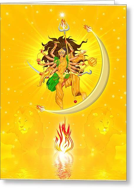 Durga Greeting Card by Harald Dastis