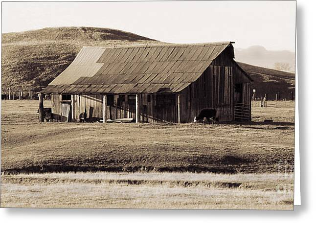 Durham California Barn Greeting Card