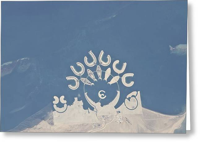 Durrat Al Bahrain, Iss Image Greeting Card by Science Photo Library
