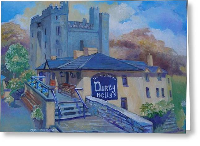 Durty Nellys And  Bunratty Castle Co Clare Ireland Greeting Card