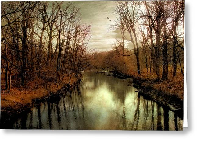 Dusk Approaches Greeting Card by Jessica Jenney