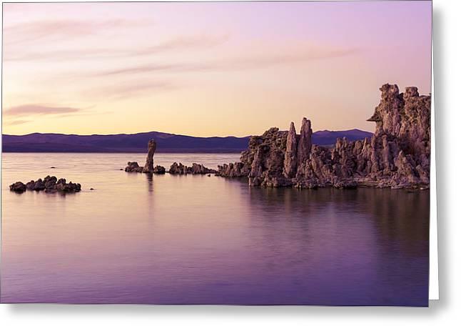 Dusk At Mono Lake Greeting Card by Priya Ghose