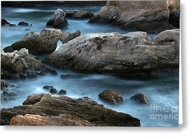 Greeting Card featuring the photograph Dusk At Montana De Oro by Michael Rock