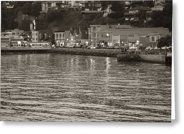 Greeting Card featuring the photograph Dusk At Sausalito by Hiroko Sakai