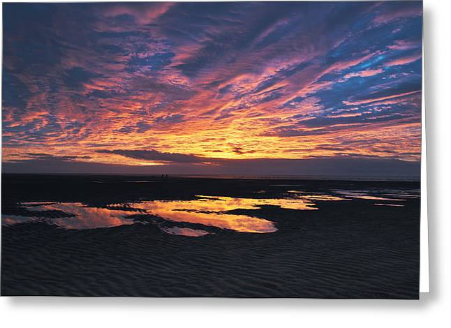 Dusk At The Beach Greeting Card