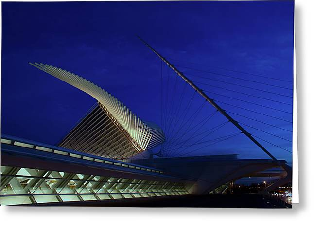 Greeting Card featuring the photograph Dusk At The Calatrava by Chuck De La Rosa