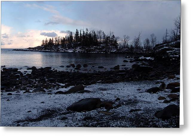 Dusk At The Cove Greeting Card by James Peterson