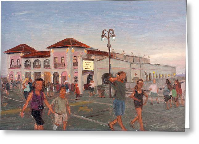 Dusk At The Ocean City Music Pier Greeting Card by Jamie Pogue