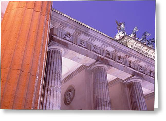 Dusk, Brandenburg Gate, Berlin, Germany Greeting Card by Panoramic Images
