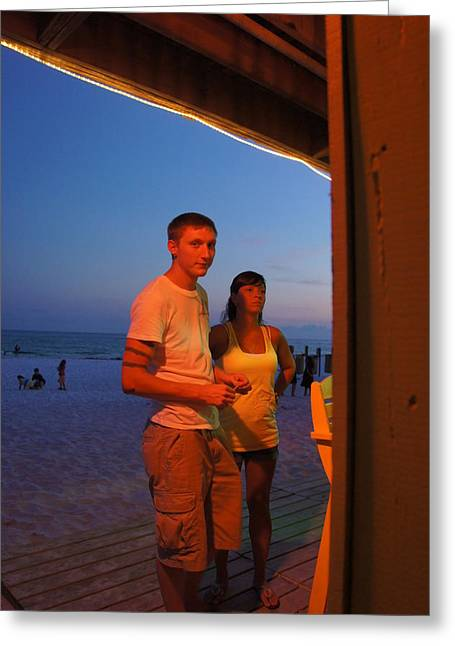 Dusk Couple Greeting Card by JD Harvill