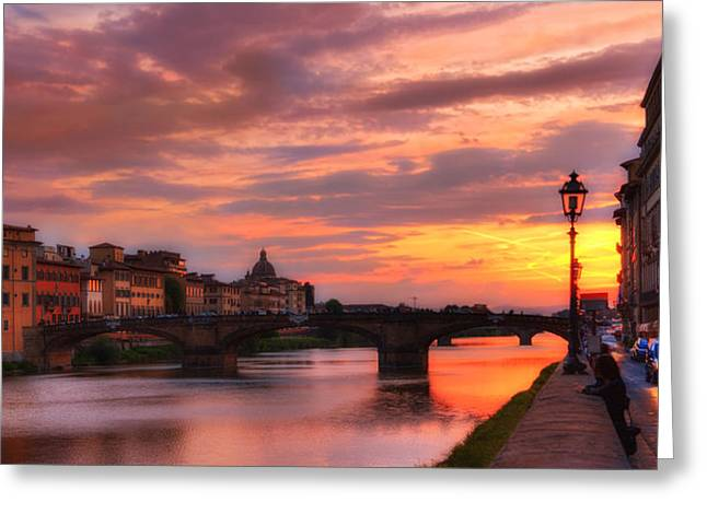 Dusk Florence Italy Greeting Card