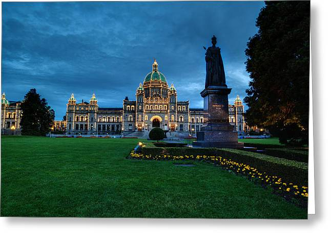 Dusk In Victoria Greeting Card by Mike Reid