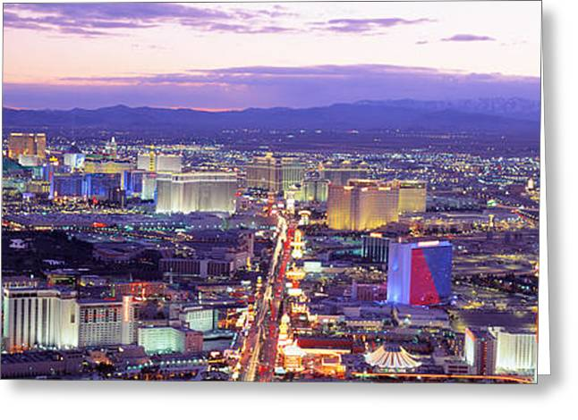 Dusk Las Vegas Nv Usa Greeting Card