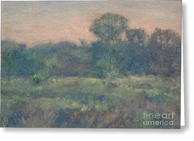 Dusk On The Meadow Greeting Card by Gregory Arnett