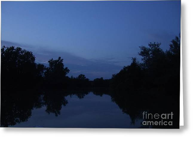 Dusk On The River Greeting Card