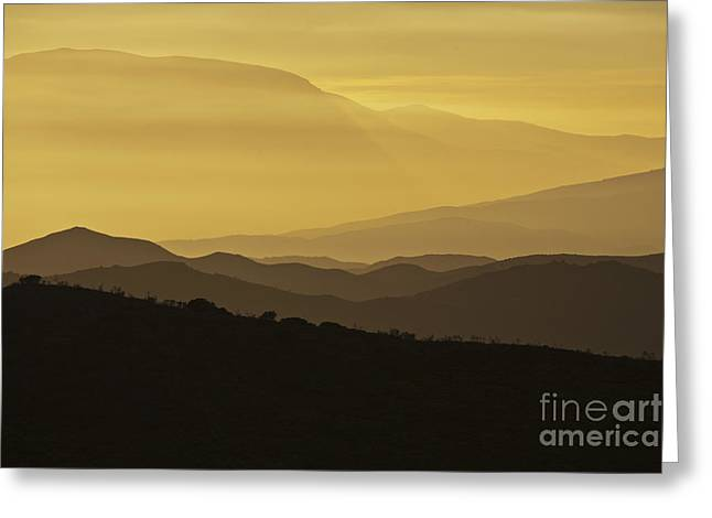 Dusk Over The Spanish Hills Of Andalusia Greeting Card by Heiko Koehrer-Wagner