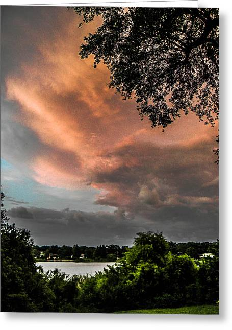 Dusk Storm  Greeting Card by Christy Usilton