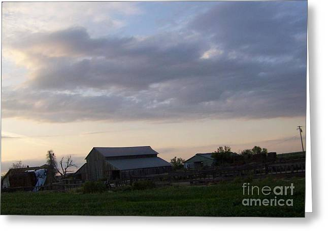 Greeting Card featuring the photograph Dusk To Dawn by Bobbee Rickard