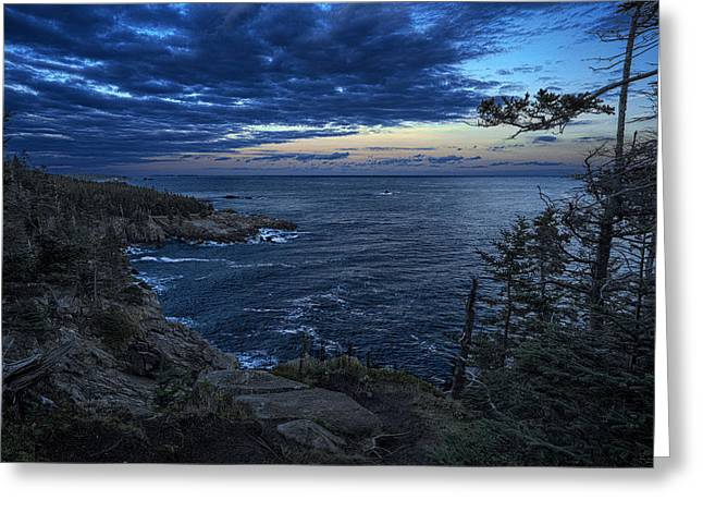 Dusk Vista At Quoddy Head State Park Greeting Card by Marty Saccone