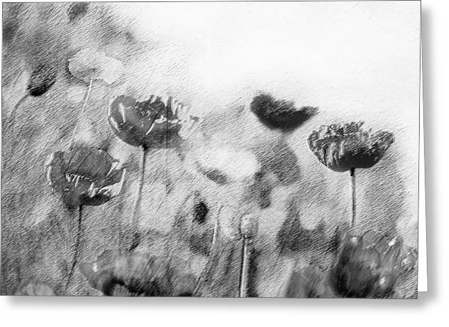 Dusky Whispers Greeting Card by Linde Townsend