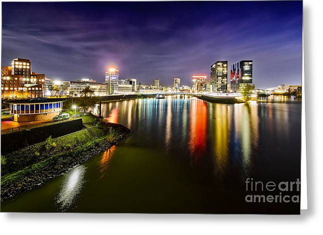 Dusseldorf Media Harbor Skyline Greeting Card