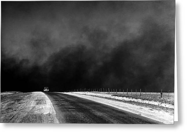 Dust Bowl In The Texas Panhandle 1936 Greeting Card by Mountain Dreams
