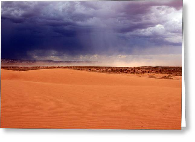 Dust Cloud In The Utah Desert Greeting Card