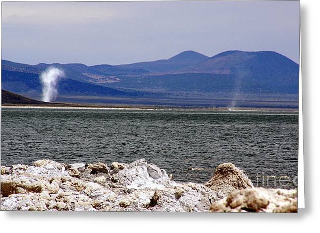 Dust Devils Of Mono Lake Greeting Card