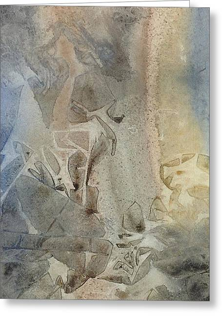 Greeting Card featuring the painting Dust Drift by Rebecca Davis