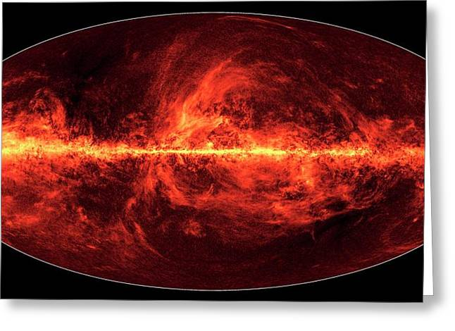 Dust In The Milky Way Greeting Card by Esa/nasa/jpl-caltech