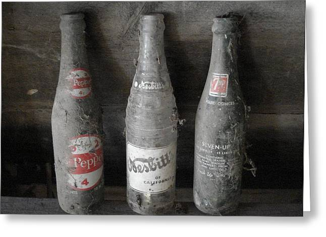 Dust On The Bottles Greeting Card by J L Zarek