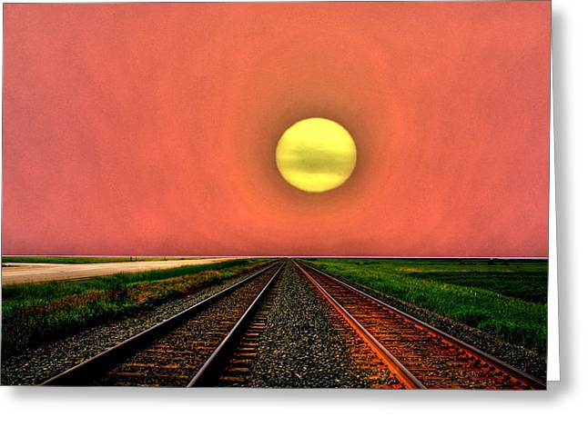 Dustbowl Sunset Greeting Card